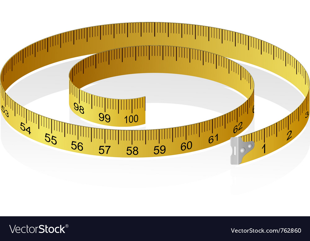 Measuring tape with reflection vector | Price: 1 Credit (USD $1)