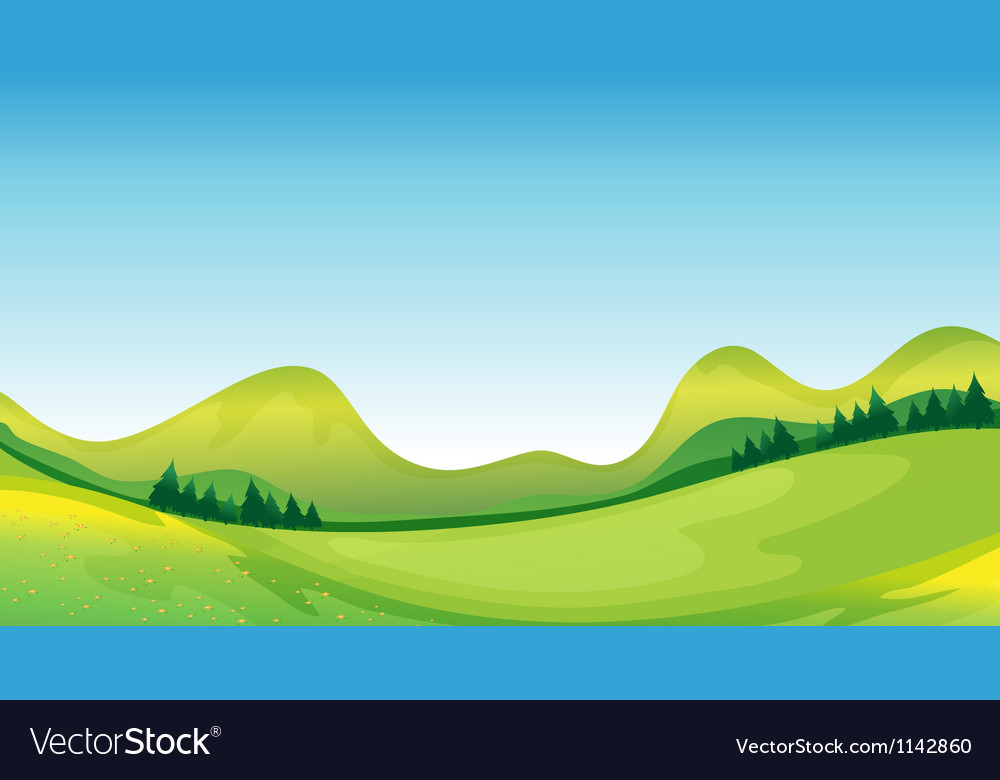 Mother nature on its green and blue side vector | Price: 1 Credit (USD $1)
