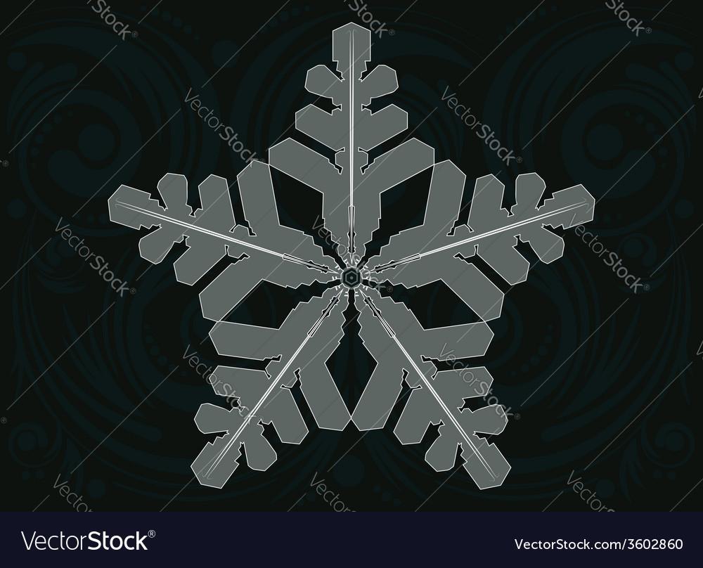 Ornament snowflake vector | Price: 1 Credit (USD $1)