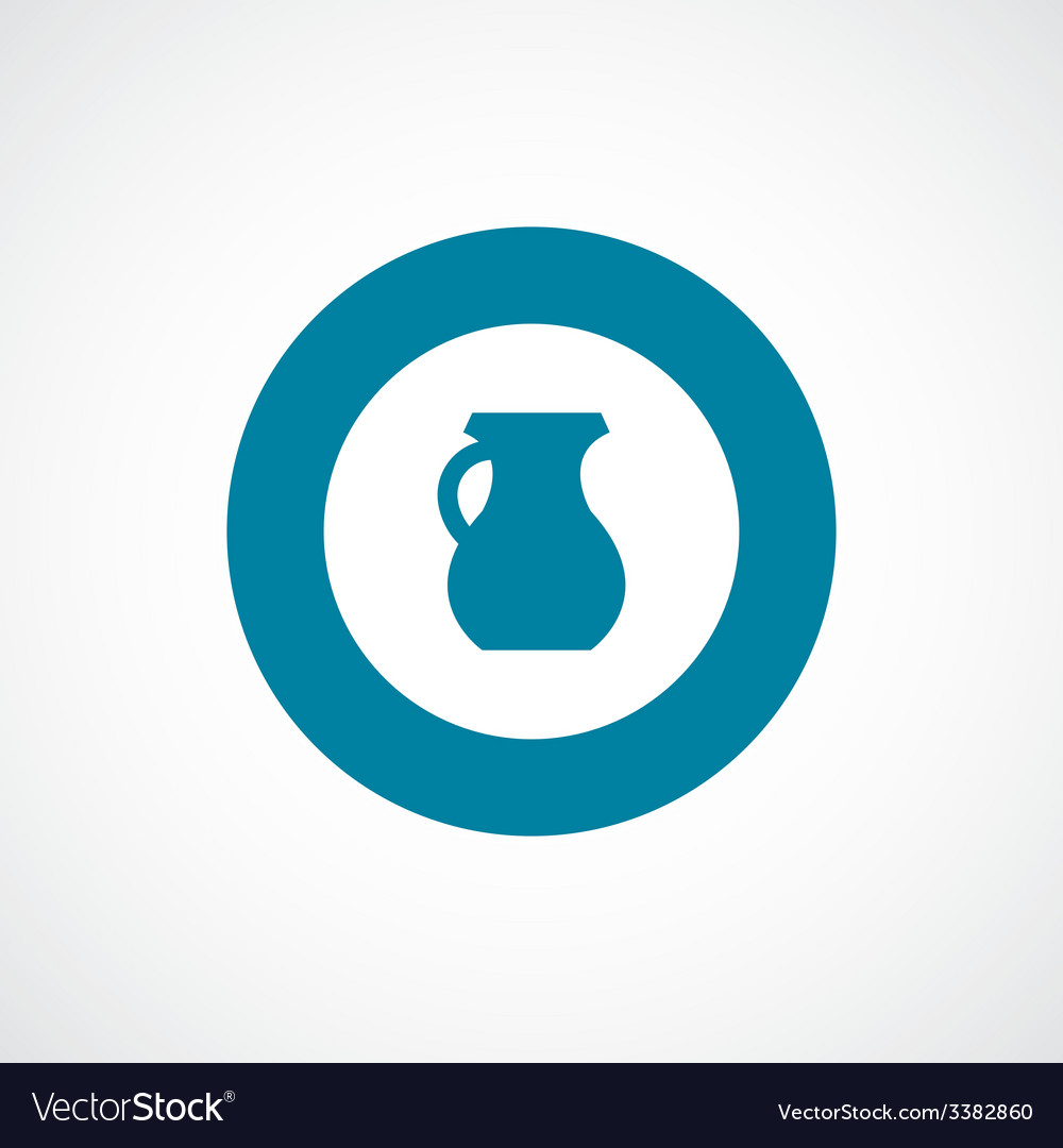 Pitcher bold blue border circle icon vector | Price: 1 Credit (USD $1)
