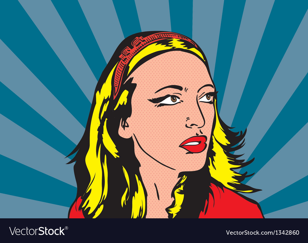 Pop up of blonde women vector | Price: 1 Credit (USD $1)
