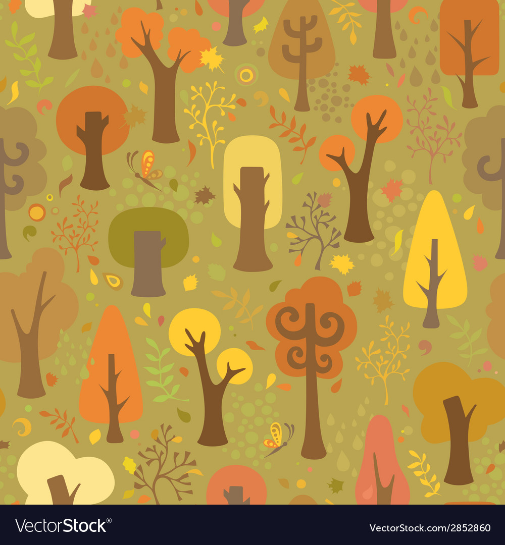 Seamless autumnal pattern vector | Price: 1 Credit (USD $1)