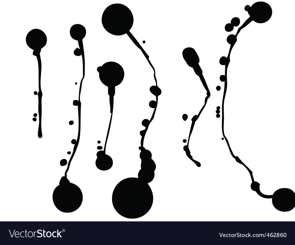 Set of blots and stains vector | Price: 1 Credit (USD $1)