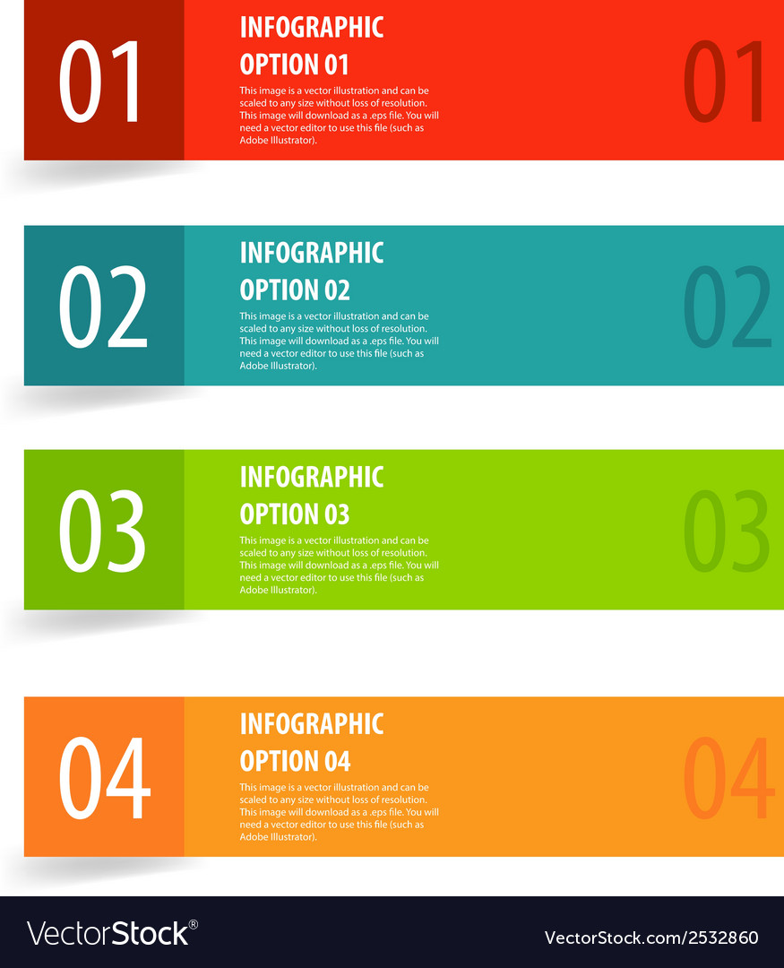 Simple modern infographics options banner vector | Price: 1 Credit (USD $1)