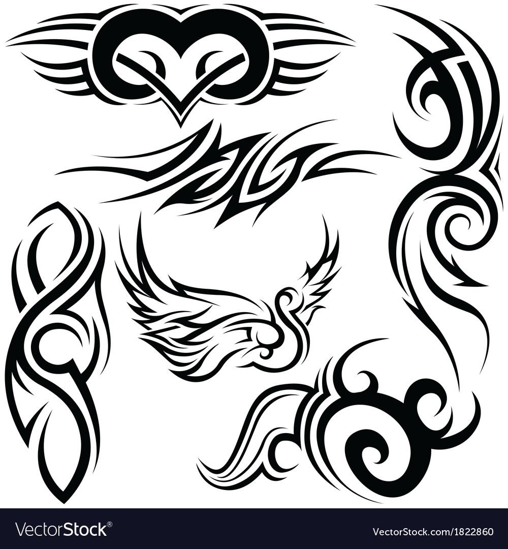 Tribal tattoos vector | Price: 1 Credit (USD $1)
