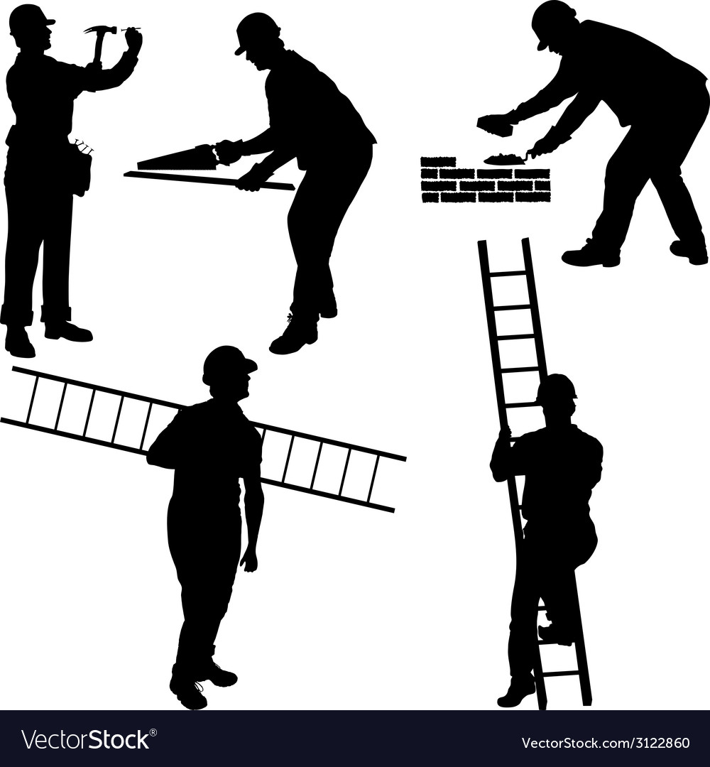 Various construction workers vector