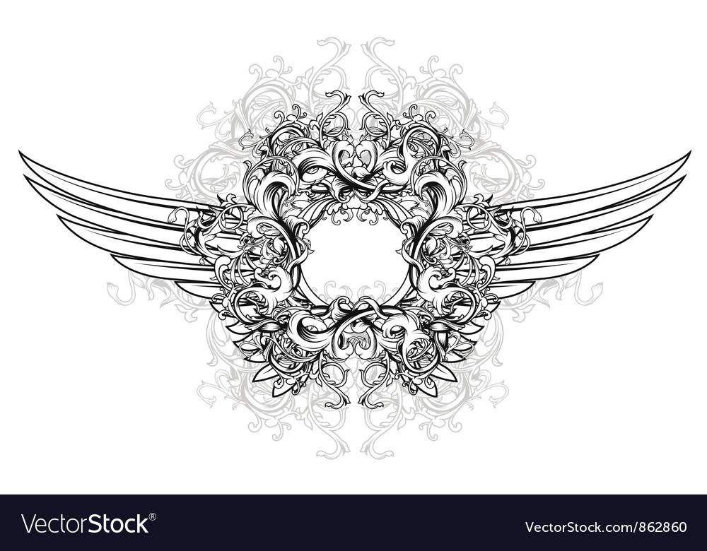 Vintage floral frame vector   Price: 1 Credit (USD $1)