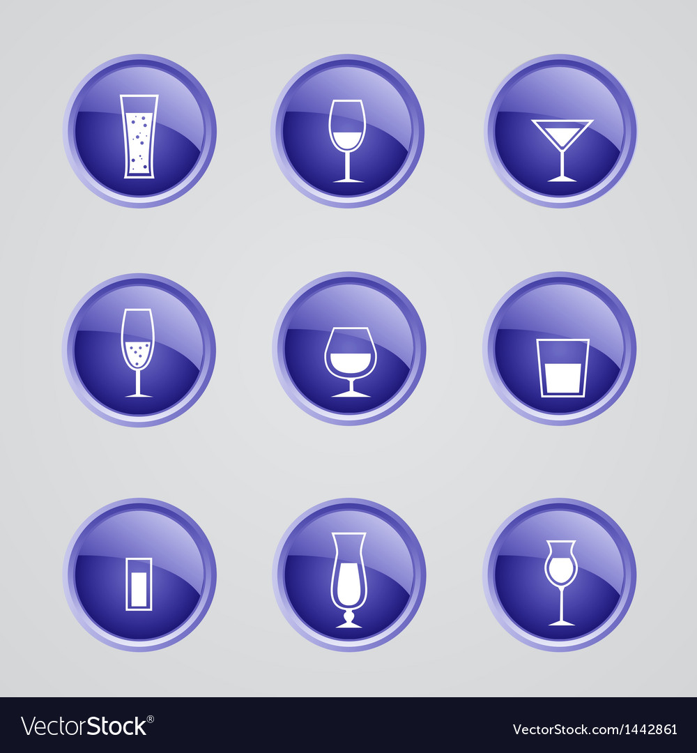 Alcohol icons vector | Price: 1 Credit (USD $1)