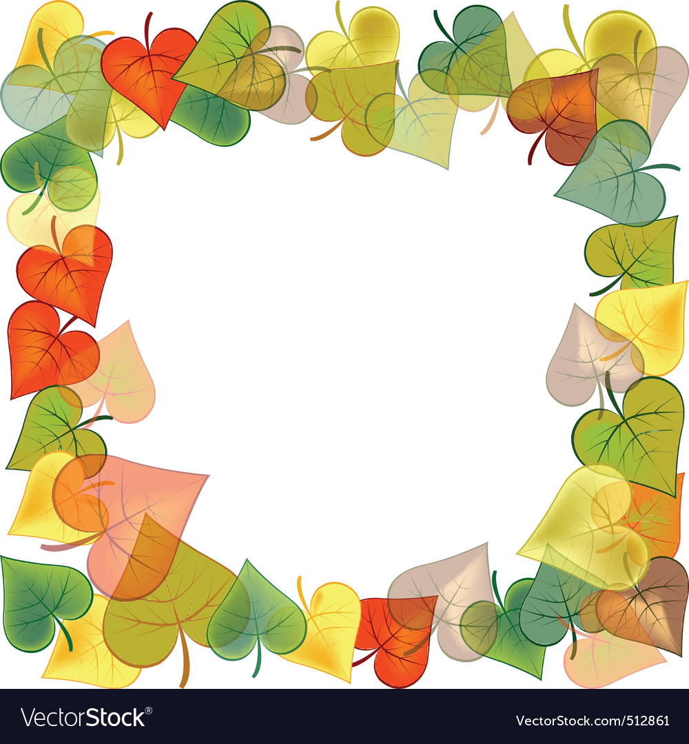 Autumn frame vector | Price: 1 Credit (USD $1)