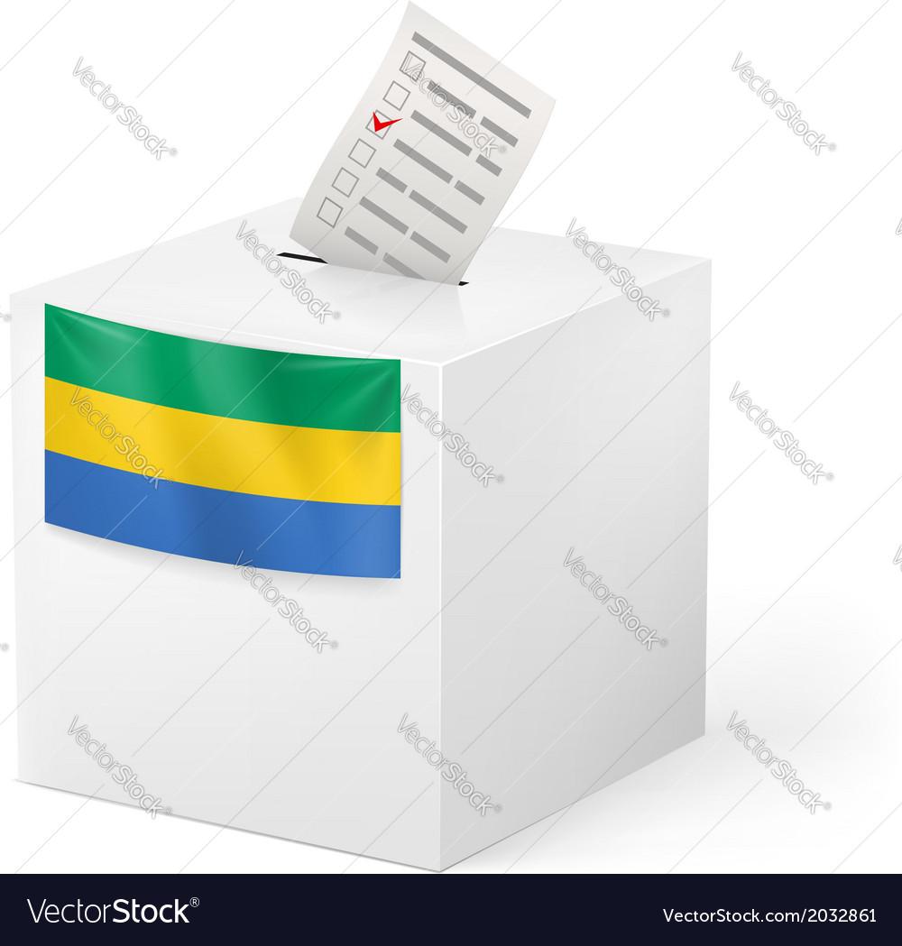 Ballot box with voting paper gabonese republic vector | Price: 1 Credit (USD $1)