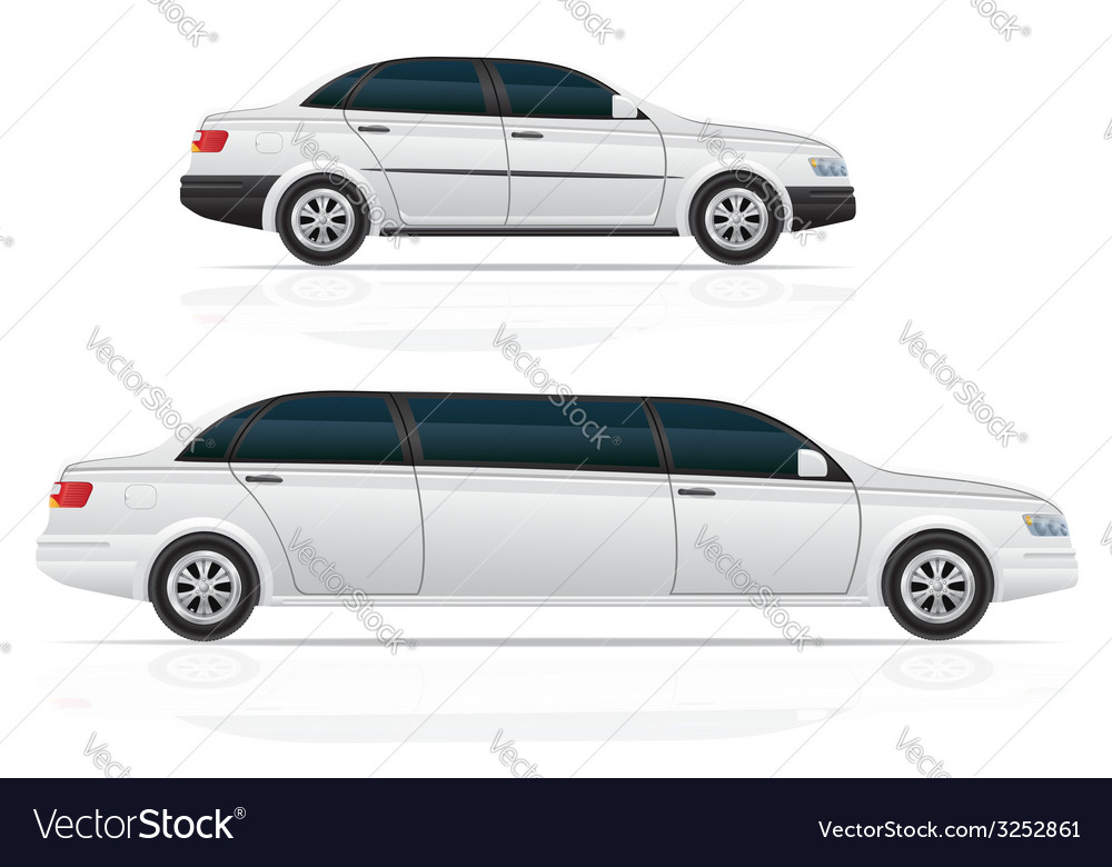 Car sedan and limousine vector | Price: 3 Credit (USD $3)