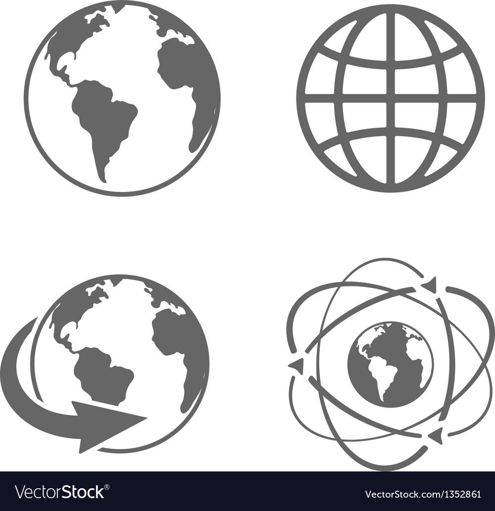 Globe earth icons vector | Price: 1 Credit (USD $1)