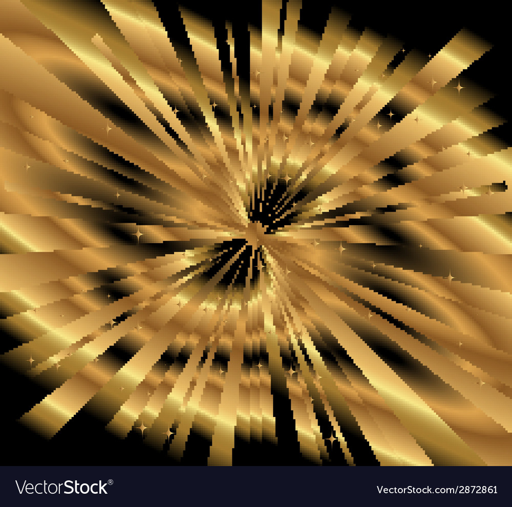 Ray gold background vector | Price: 1 Credit (USD $1)
