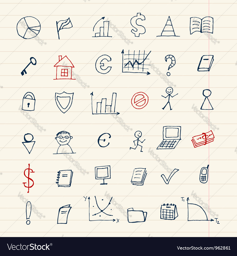 Set of finance icons for your design vector | Price: 1 Credit (USD $1)