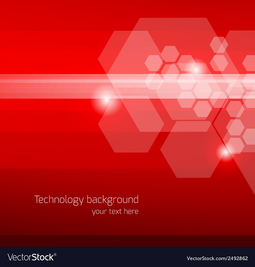 Abstract red background with hexagons vector | Price: 1 Credit (USD $1)