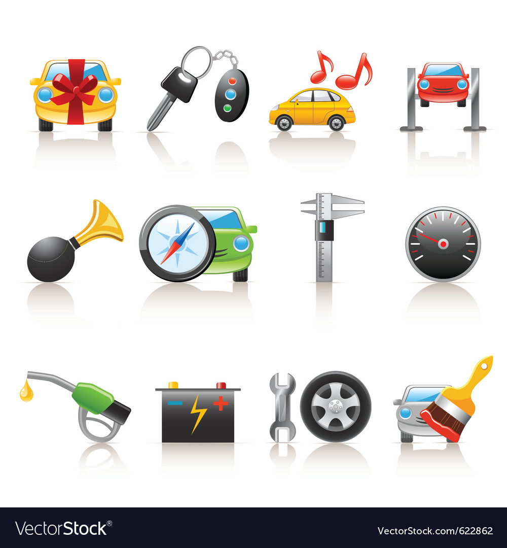 Auto service icons vector | Price: 3 Credit (USD $3)