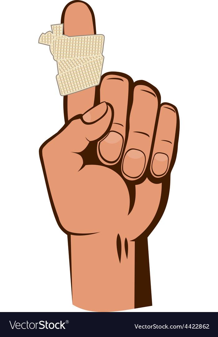 Bandaged finger vector   Price: 1 Credit (USD $1)