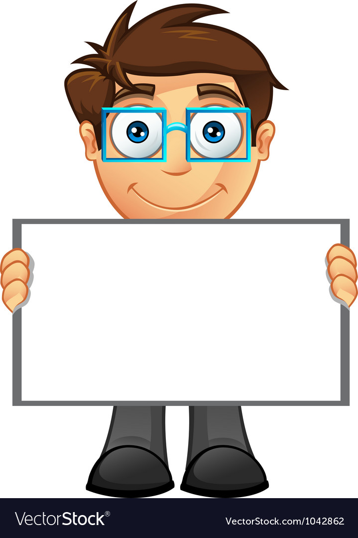 Business man blank sign 4 vector | Price: 1 Credit (USD $1)