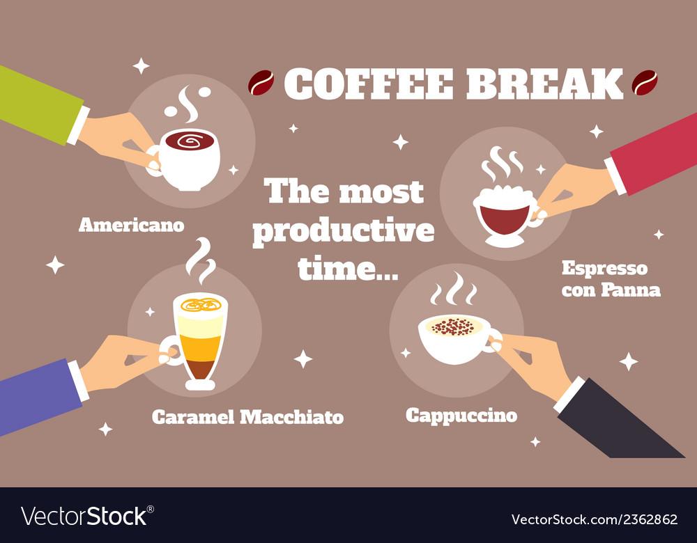 Coffee break concept vector | Price: 1 Credit (USD $1)