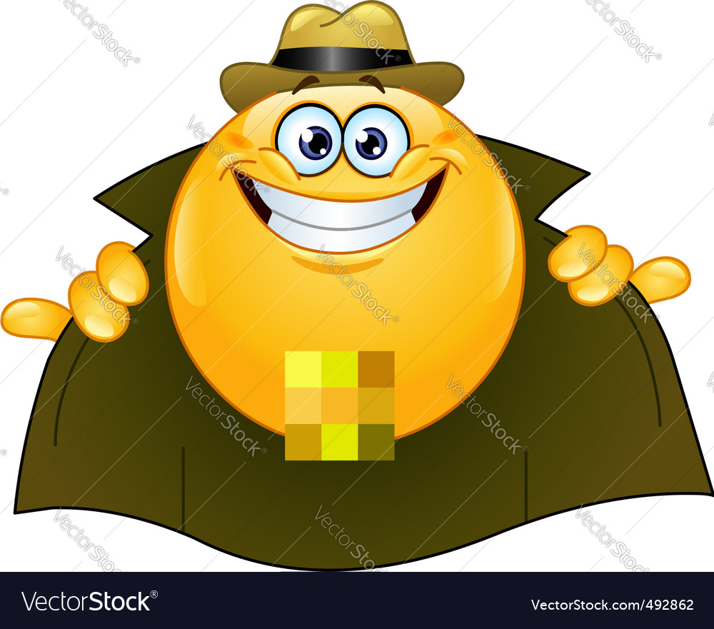 Flasher emoticon vector | Price: 1 Credit (USD $1)
