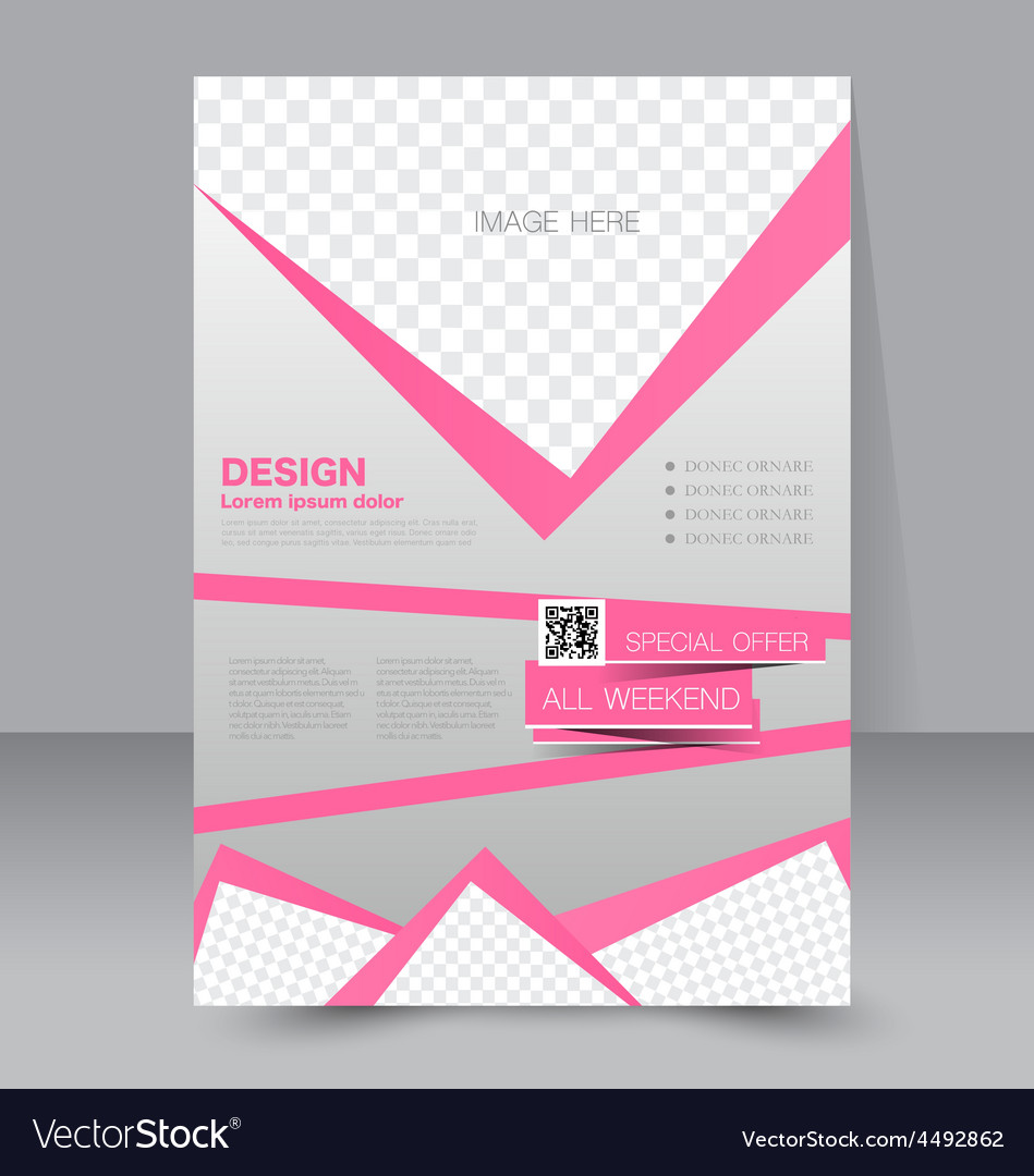 Flyer template business brochure editable a4 vector | Price: 1 Credit (USD $1)