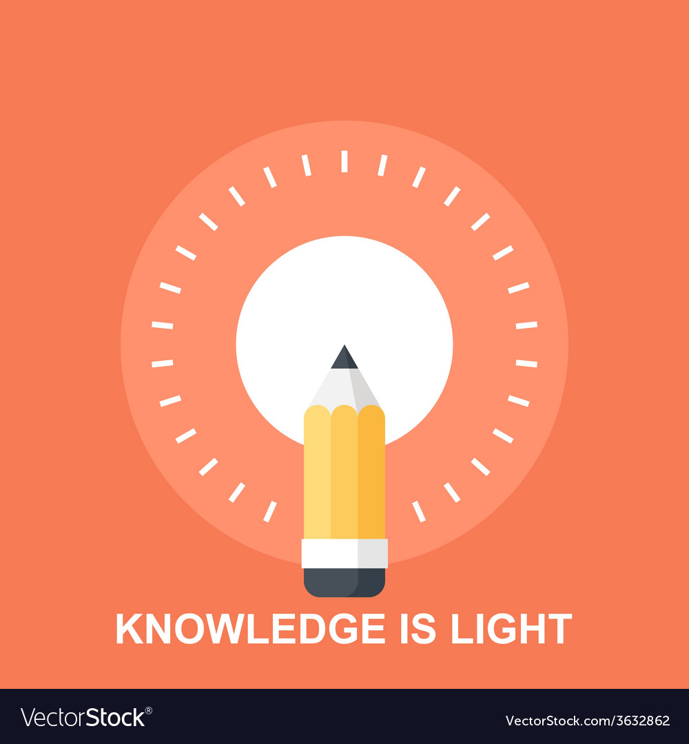 Knowledge is light vector | Price: 1 Credit (USD $1)