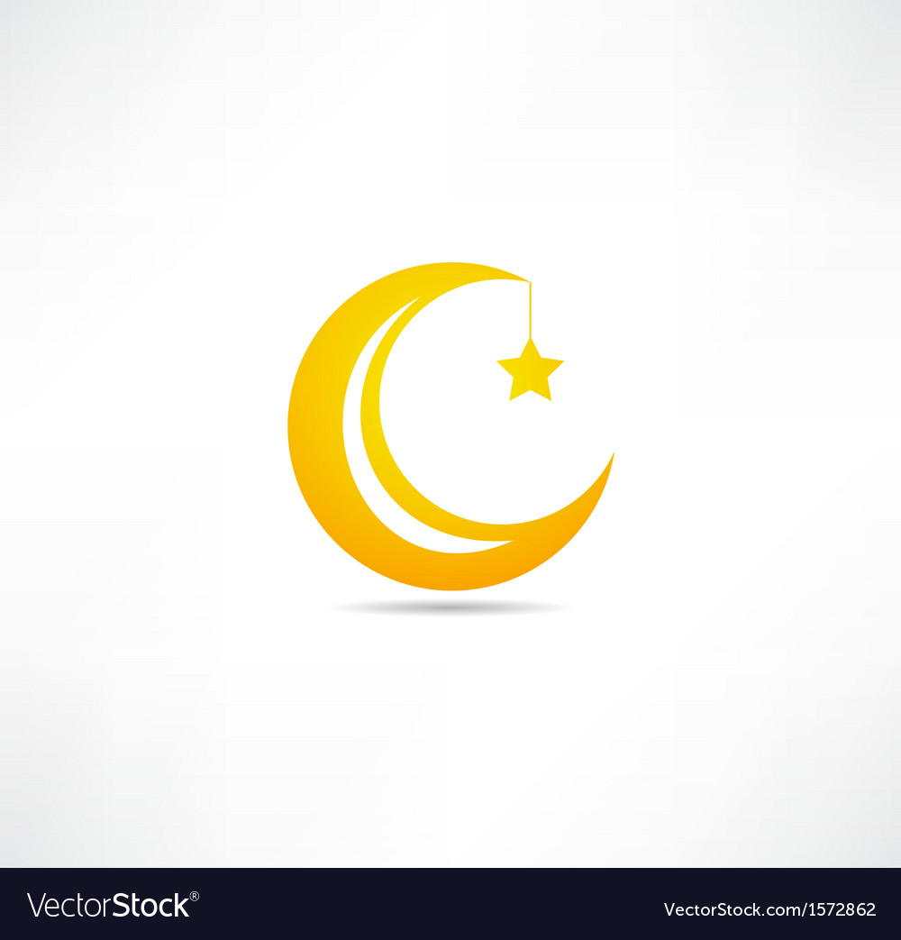 Moon and star icon vector | Price: 1 Credit (USD $1)