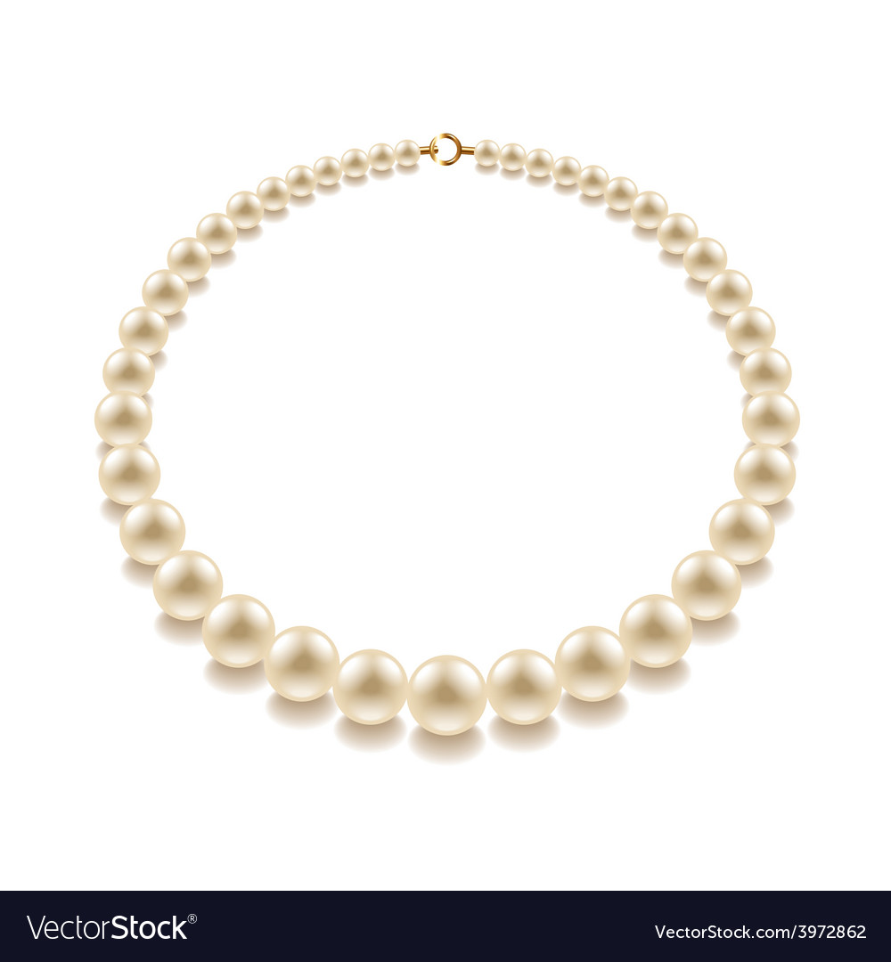 Pearl bead isolated vector | Price: 1 Credit (USD $1)