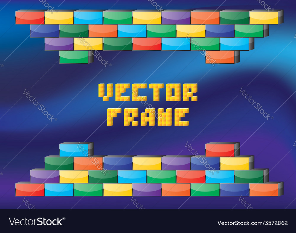 Retro gaming frame vector | Price: 1 Credit (USD $1)