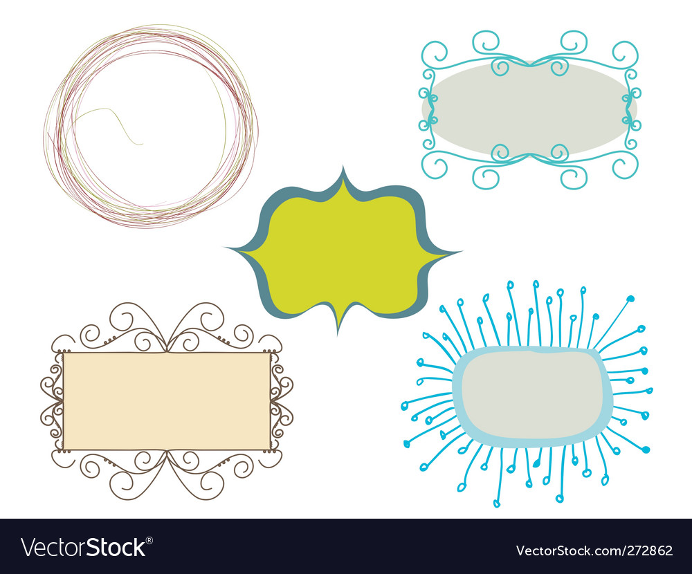 Set of frames vector | Price: 1 Credit (USD $1)