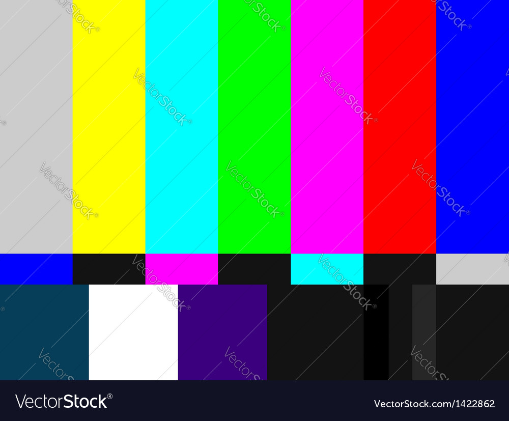 Tv colored bars signal vector | Price: 1 Credit (USD $1)