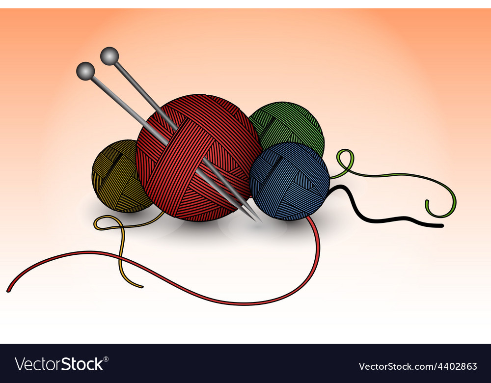 Balls of wool vector | Price: 1 Credit (USD $1)