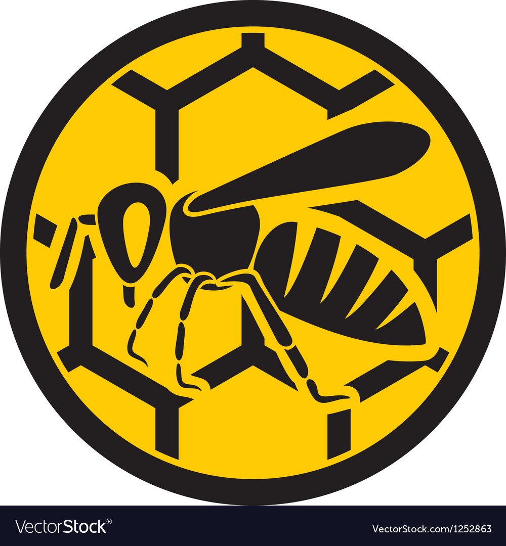 Bee symbol vector | Price: 1 Credit (USD $1)