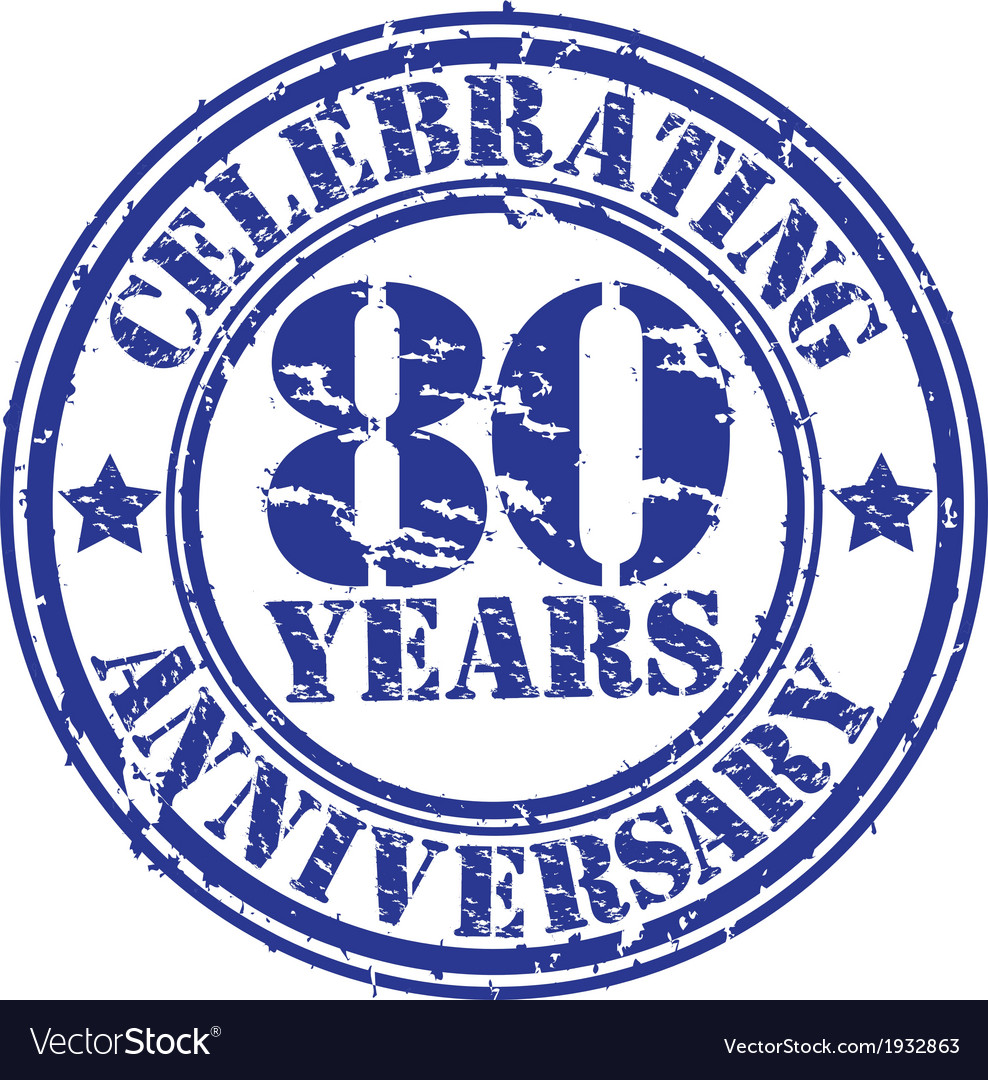 Celebrating 80 years anniversary grunge rubber sta vector | Price: 1 Credit (USD $1)