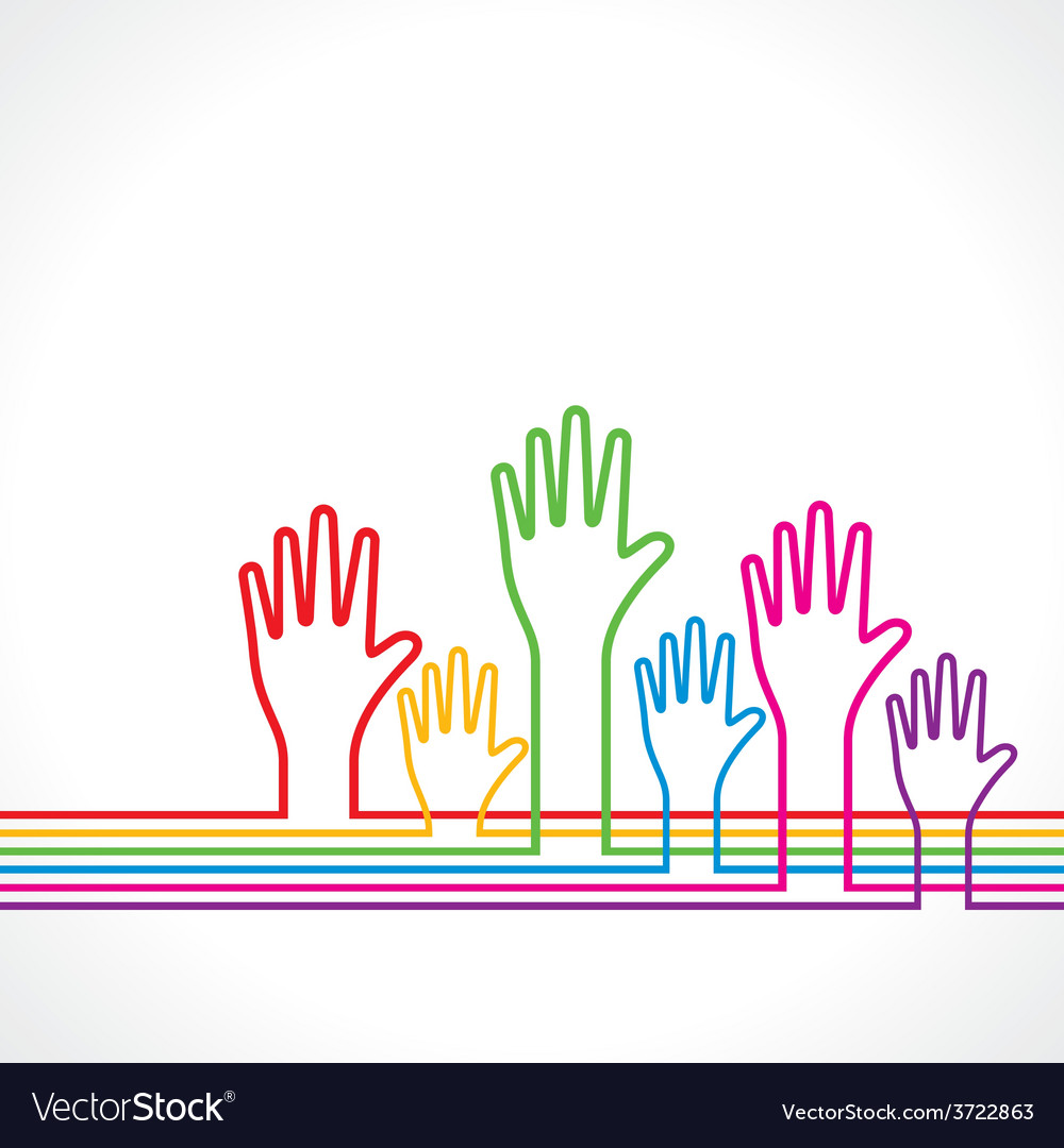 Colorful hands background vector | Price: 1 Credit (USD $1)