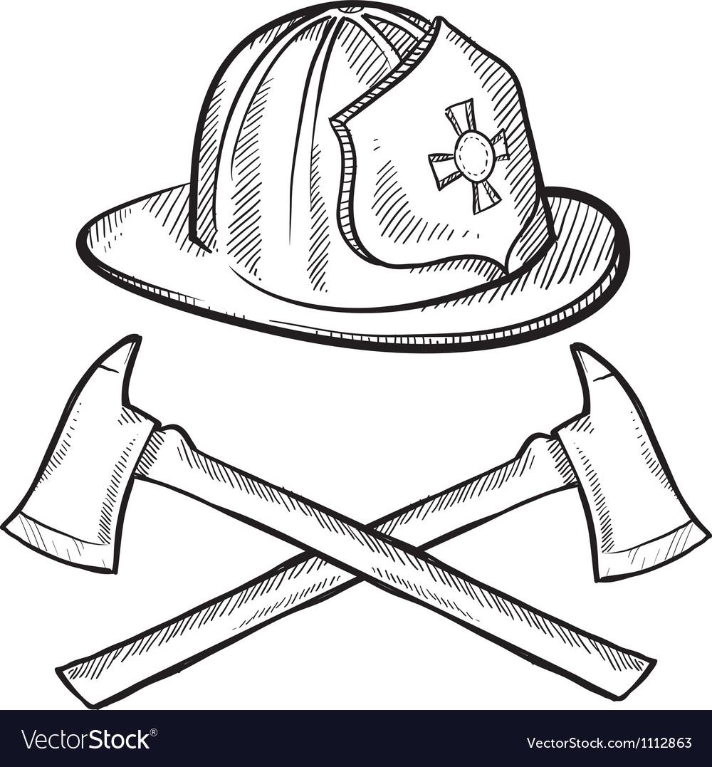 Doodle fireman vector | Price: 1 Credit (USD $1)