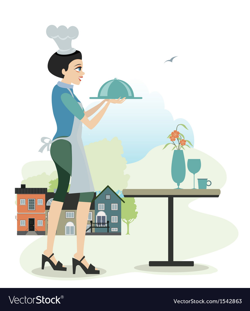 Female cook vector   Price: 1 Credit (USD $1)