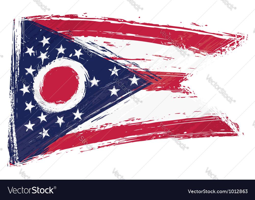 Grunge ohio flag vector | Price: 1 Credit (USD $1)