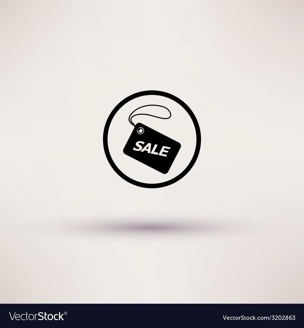 Icon of sale tag isolated vector | Price: 1 Credit (USD $1)