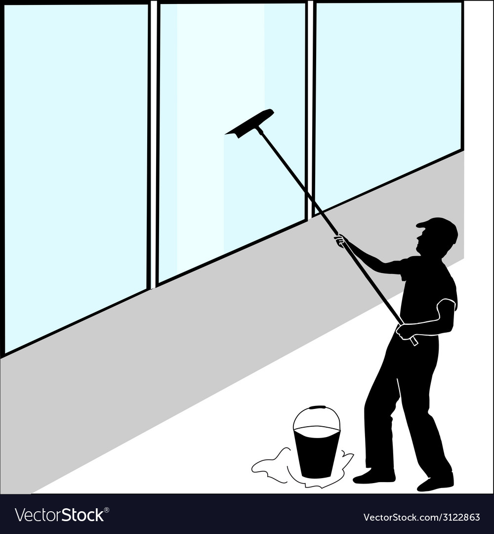 Large window washer vector | Price: 1 Credit (USD $1)