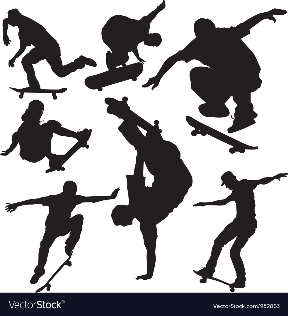 Skateboarders vector | Price: 1 Credit (USD $1)