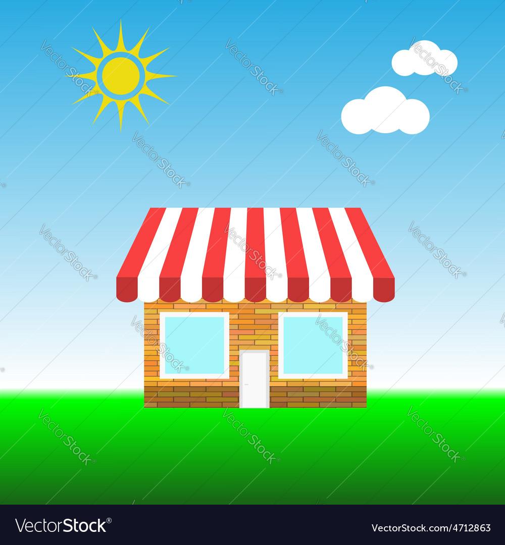 Small shop vector | Price: 1 Credit (USD $1)