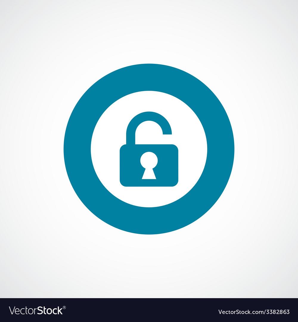 Unlock bold blue border circle icon vector   Price: 1 Credit (USD $1)