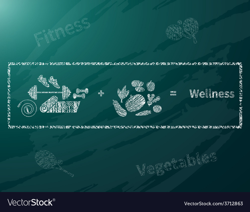 Wellness math vector | Price: 1 Credit (USD $1)