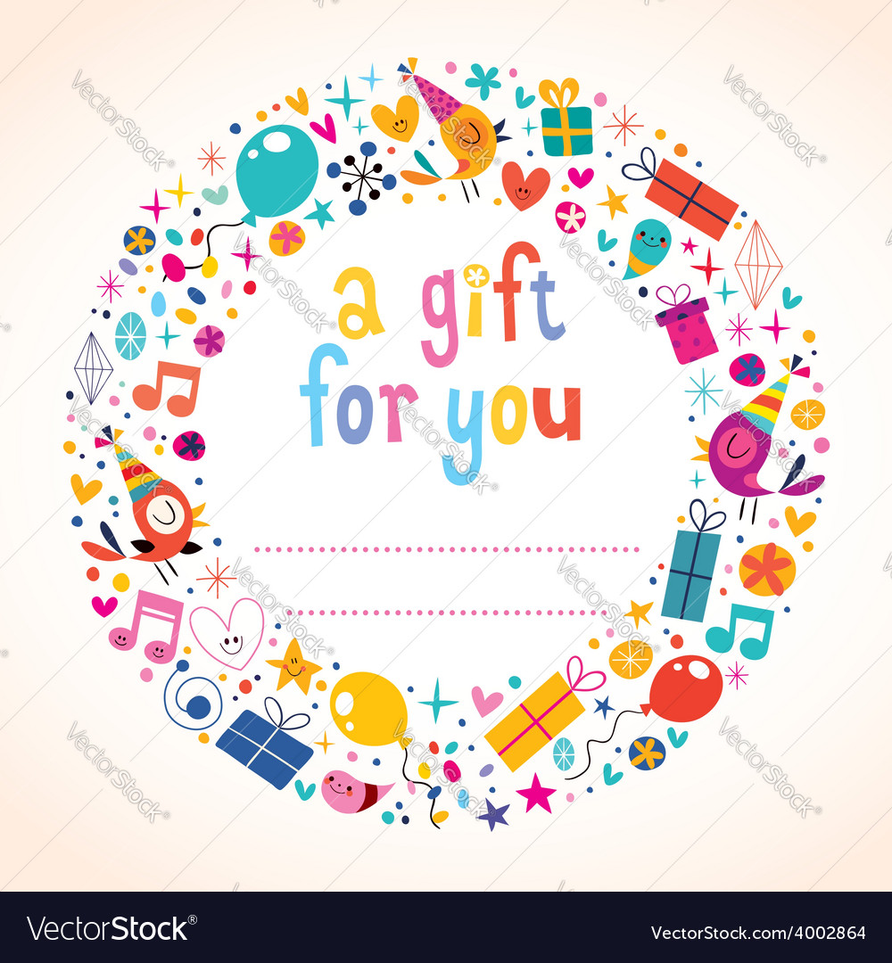 Birthday gift tag vector | Price: 1 Credit (USD $1)