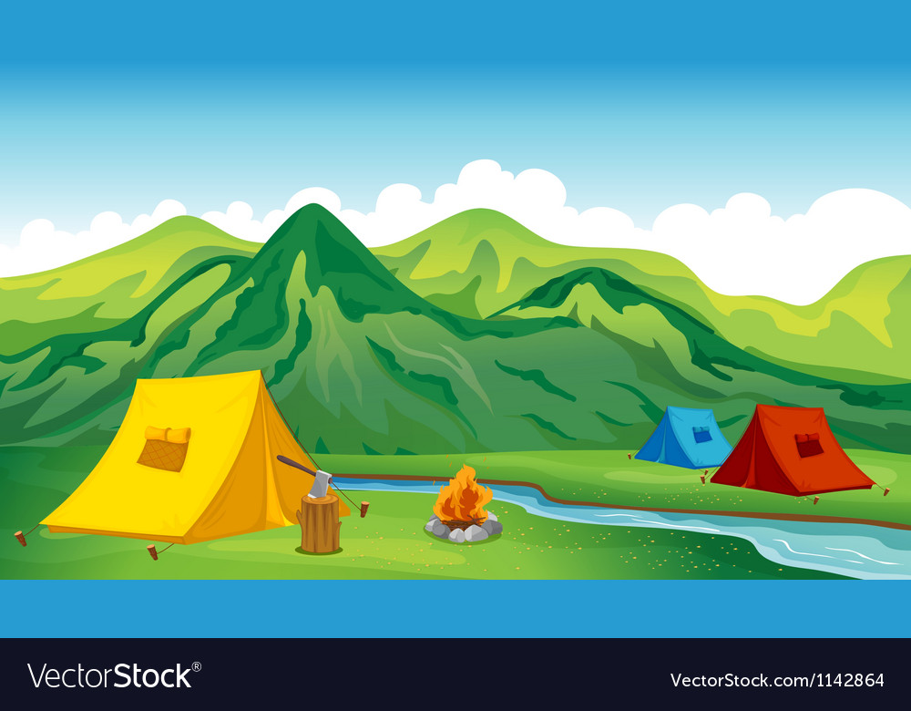 Camping tents vector | Price: 1 Credit (USD $1)