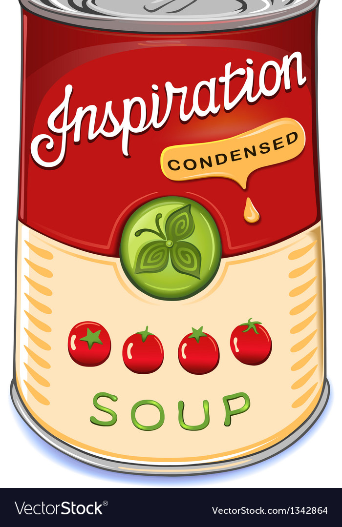 Can of condensed tomato soup inspiration vector | Price: 1 Credit (USD $1)