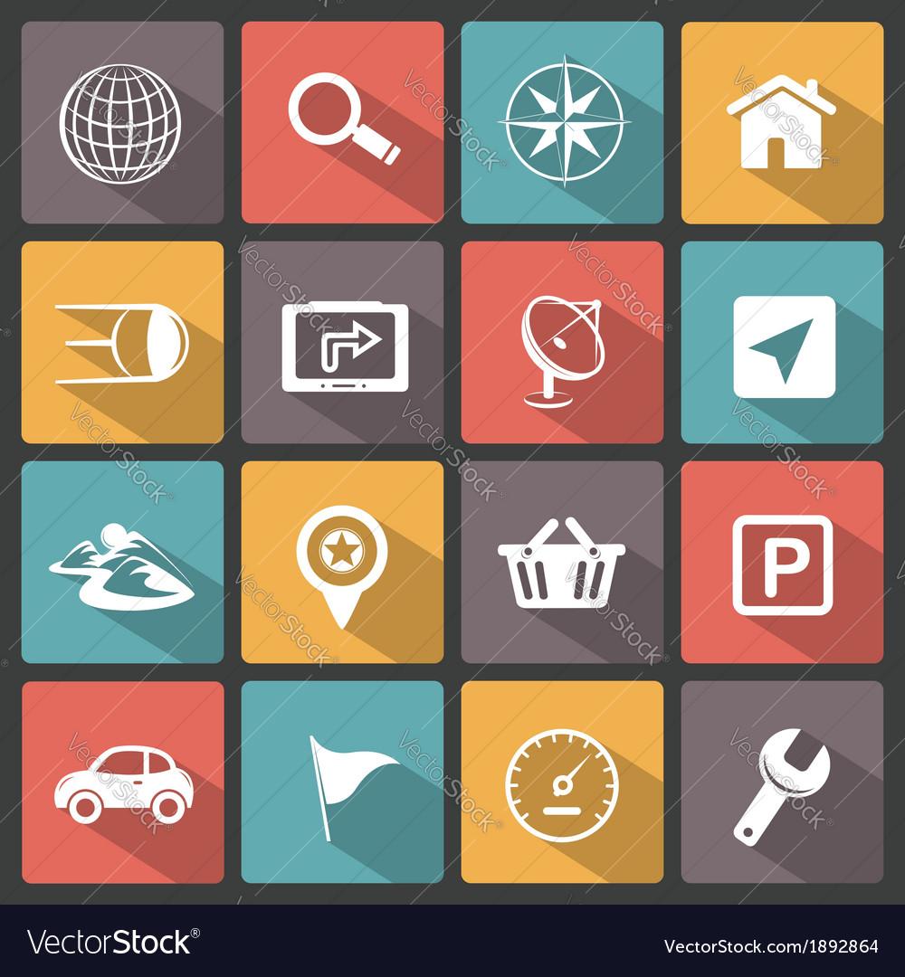 Gps navigation icons vector | Price: 1 Credit (USD $1)