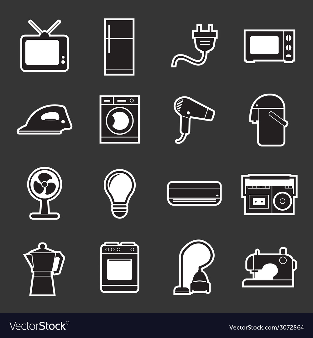 Home appliances icon vector | Price: 1 Credit (USD $1)