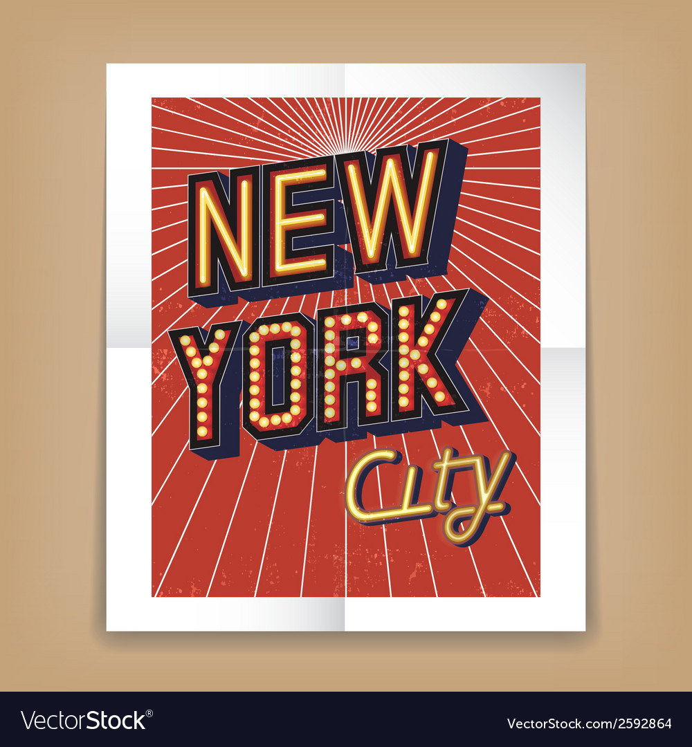 New york city poster vector | Price: 1 Credit (USD $1)